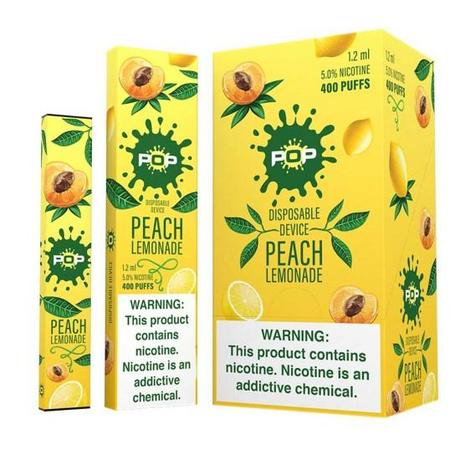 Pop Disposable Peach Lemonade