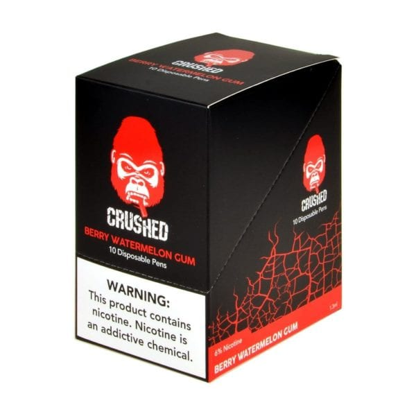 Crushed Disposable Berry Watermelon Gum 10 Pack
