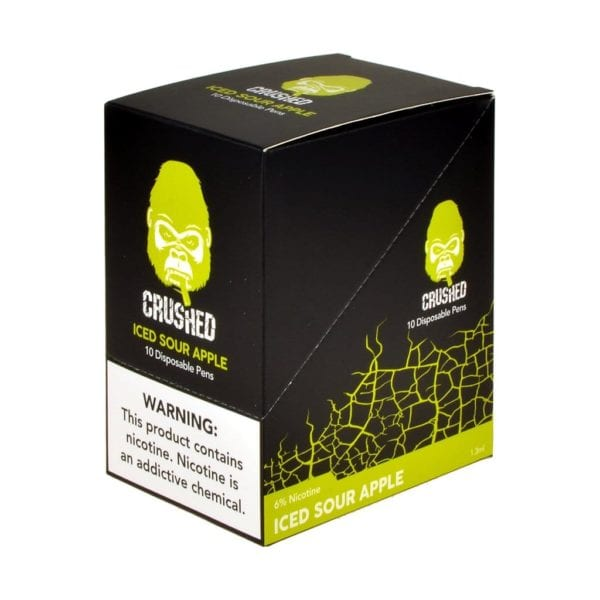 Crushed Disposable Iced Sour Apple 10 Pack
